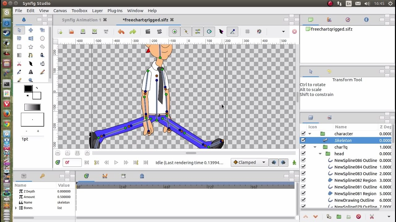 Synfig studio 2d animation software on ubuntu linux youtube Free 2d software