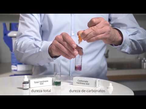 Determinación de la dureza del agua (análisis de la dureza carbonatos y total)