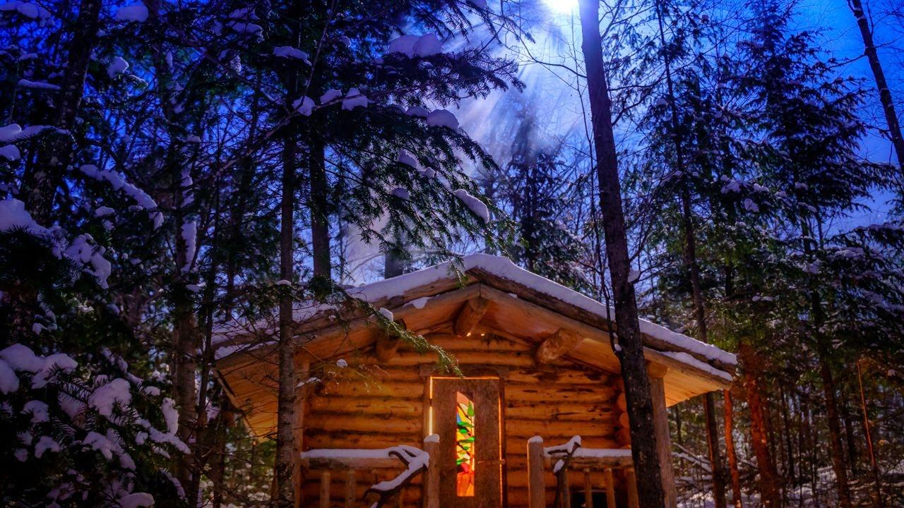 Αποτέλεσμα εικόνας για In the Forest with my Wife and Dog | Off Grid Log Cabin in the Wilderness
