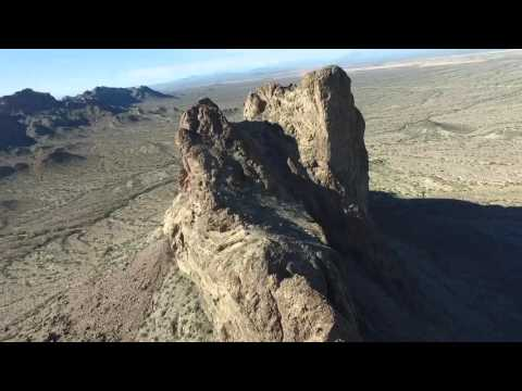 Courthouse Rock, Eagletail Mountains - 2/2016 (drone video)
