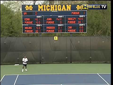 Michigan Tennis Sophomore Evan King