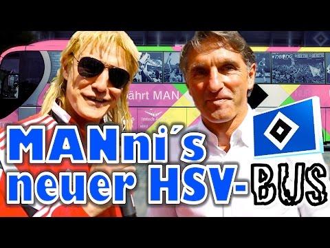 MANni präsentiert dem Hamburger SV sein neues Bus-Design