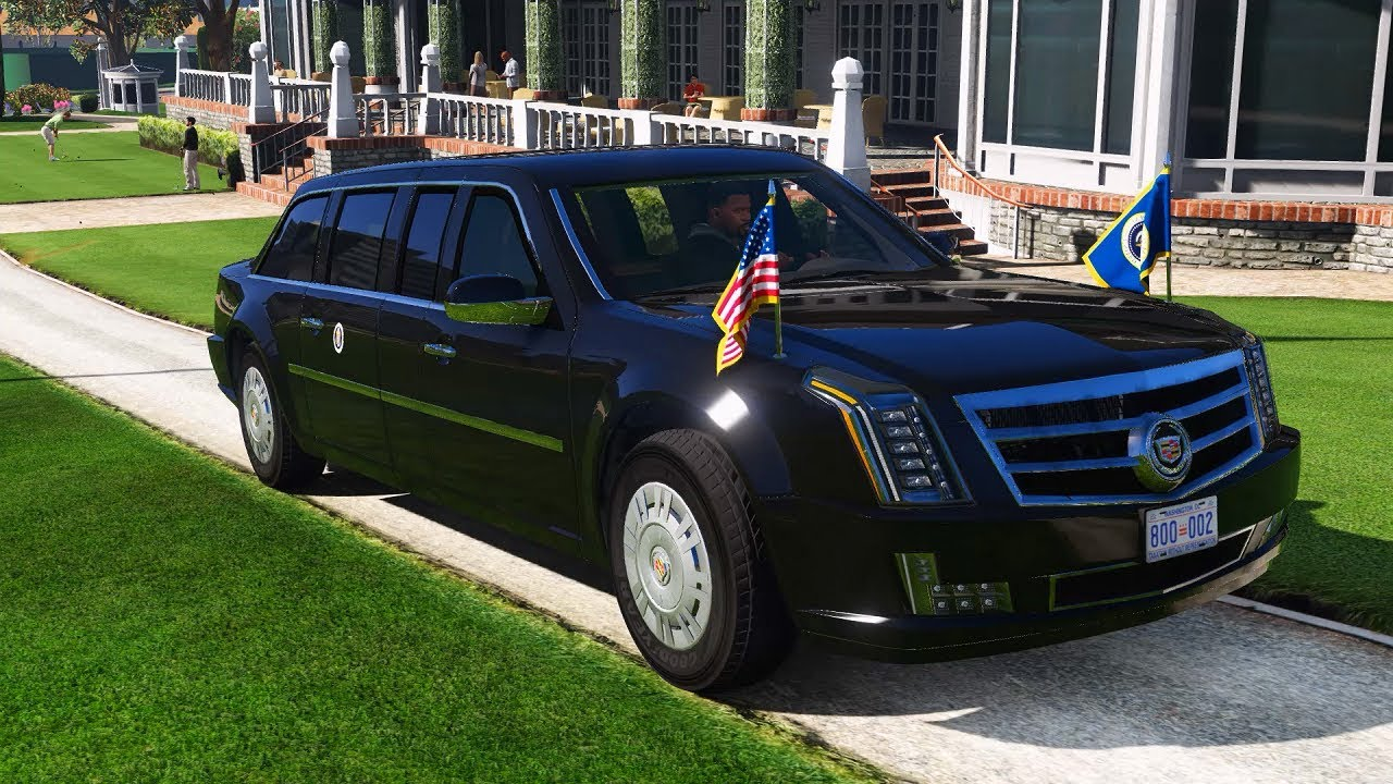 GTA 5 mod Cadillac The Beast Presidential State Car - YouTube