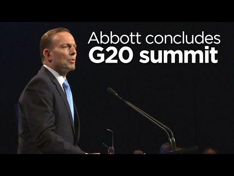 Tony Abbott concludes G20 summit