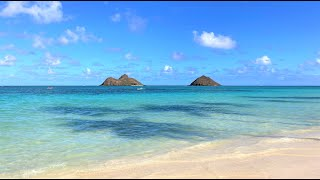 Go Walking!  Beautiful Lanikai Beach, Kailua, Oahu, Hawaii