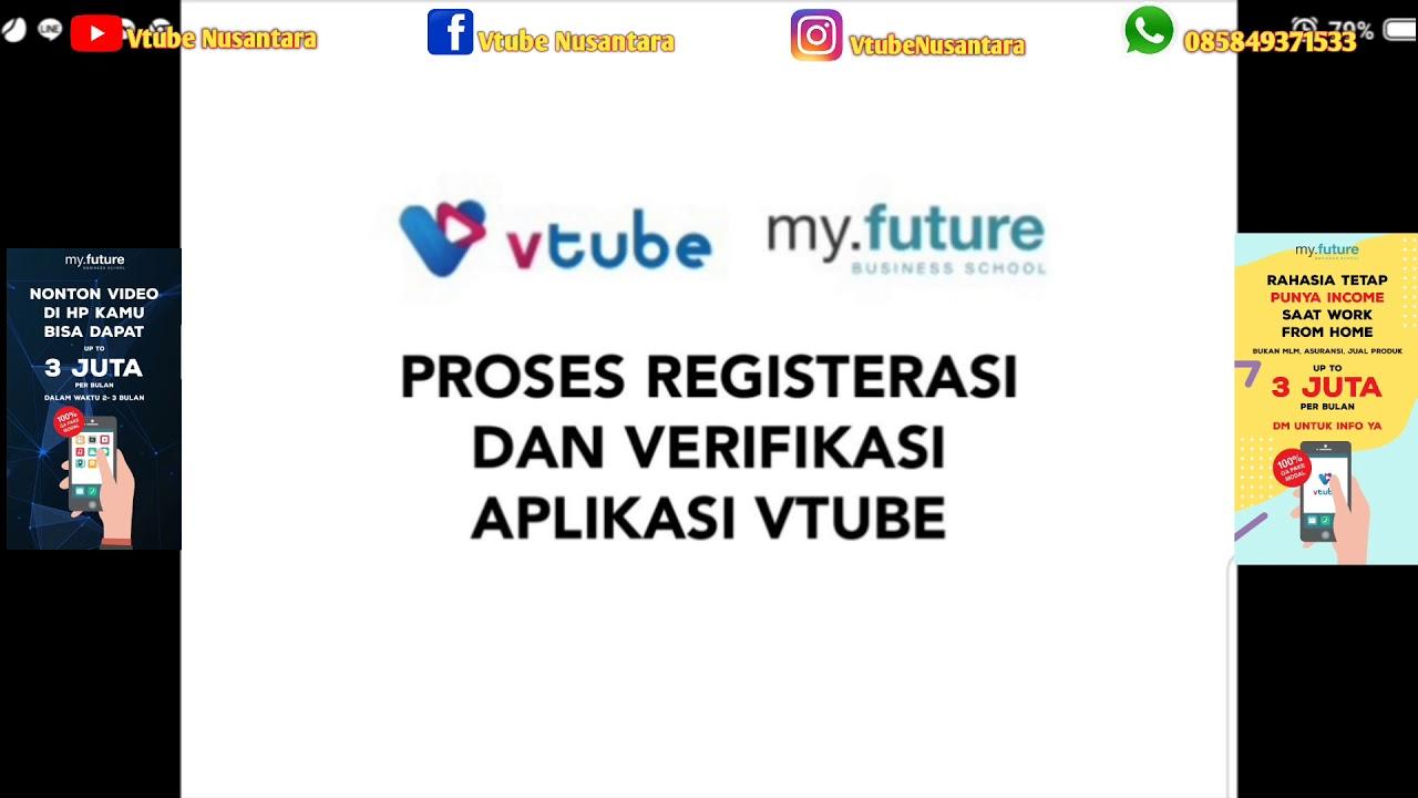 Vtube Cara Mendaftar Vtube Lengkap Youtube