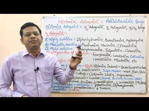 Histamine (Part 03)- Classification And Pharmacological Action Of  Of Antihistaminic Drugs. Hindi