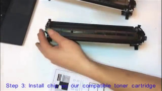 How to Change HP CF217A 17A Chip from original toner cartridge to compatible toner cartridge