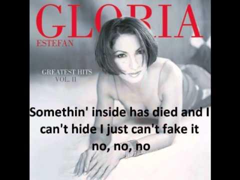 Gloria Estefan - It's too late with lyrics
