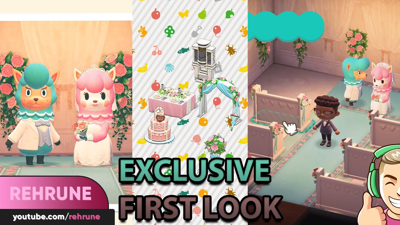 Exclusive First Look At The Wedding Event Animal Crossing New Horizons Youtube