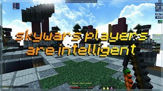 skywars players are intelligent (skywars funny moments) Minecraft Hypixel