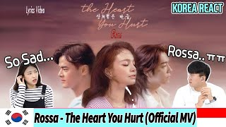 Korean Reaction Rossa The Heart You Hurt Mv Indonesia MP3