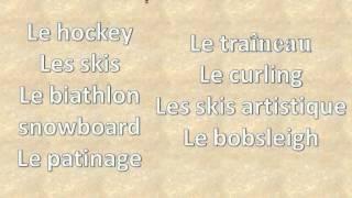 Французский язык: УРОК № 33  le sport