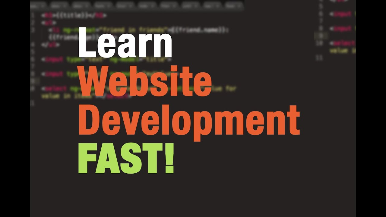 Web Development Tutorial For Beginners 1 How To Build Webpages With Html Css Javascript Youtube