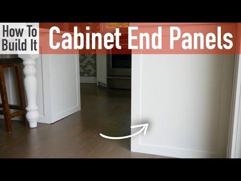 DIY Kitchen Cabinet End Panels