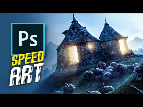 Hagrid's Hut | Speed Art (photoshop)