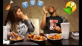 OUR FIRST CHALLENGE !!! 100 CHICKEN NUGGETS!!