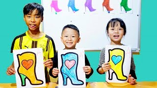 Hunter Kids Go To School Learn Colors High Boots   Classroom Funny Nursery Rhymes
