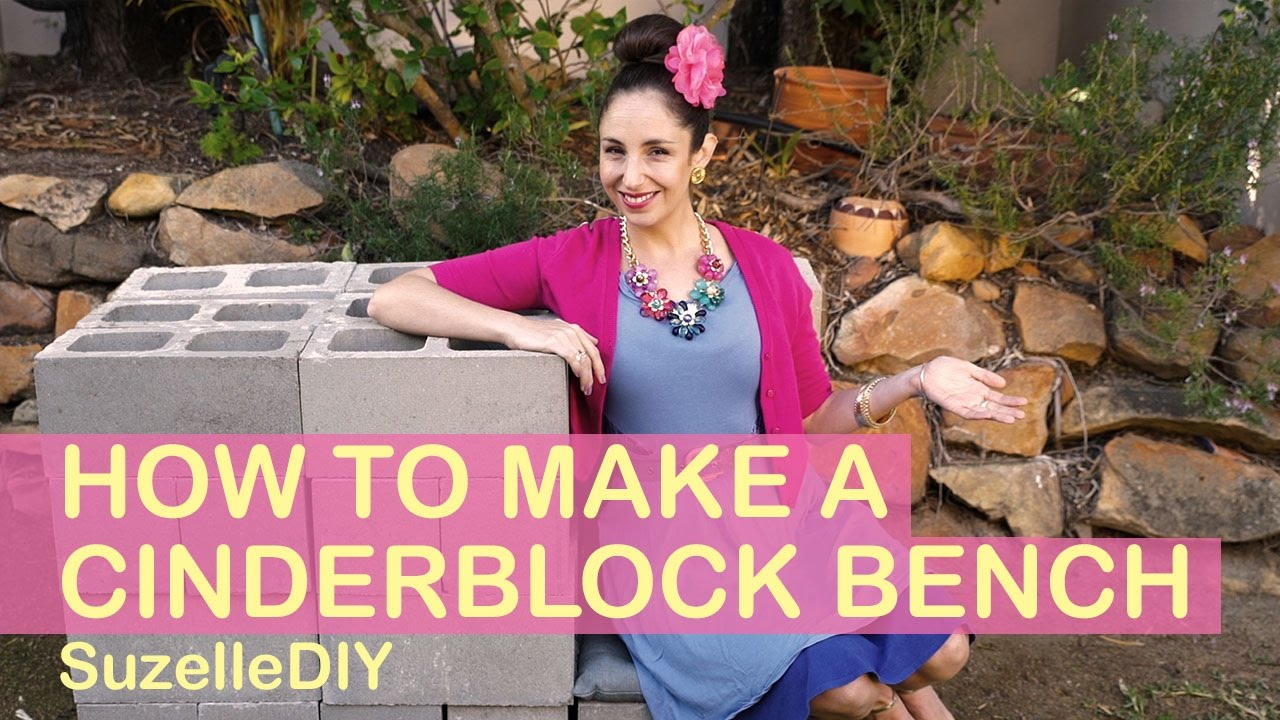 How To Make A Cinderblock Bench Youtube