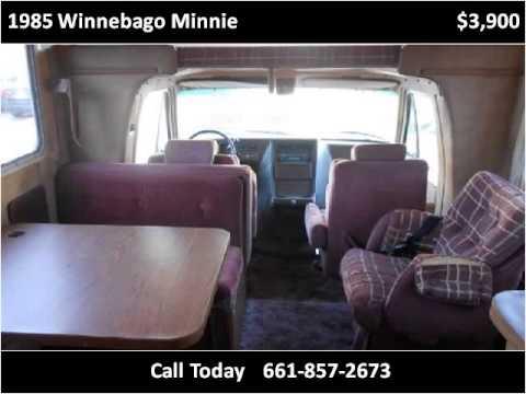 1985 Winnebago Minnie Used Cars Lebec CA