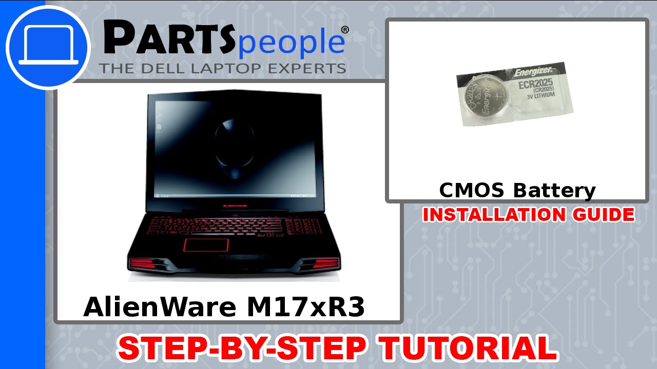 Dell AlienWare M17xR3 CMOS Battery Replacement Video Tutorial