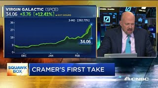 Jim Cramer on Virgin Galactic's speculative rally: These things tend to end badly