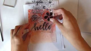 Card Making with stamps!