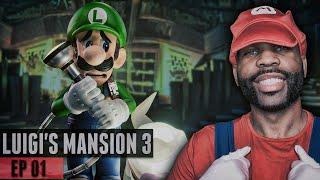 """""""Luigi's Mansion 3"""" Gameplay Walkthrough Part 1 - IT'S FINALLY HERE! FIRST HOUR!"""