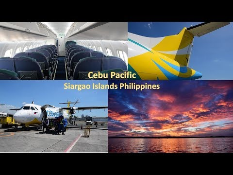 Cebu Pacific ATR72 to Siargao Islands (PARADISE on Earth)