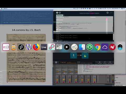 Bach 14 Canons: A Project for Sonic PI