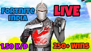 [LIVE] Fortnite India Giveaway Now | Controller Player Fortnite LIVE #126 | 250+ Wins | 1.5 K/D