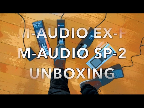 UNBOXING M-AUDIO PEDALS SP-2 + EX-P APPLE USB LIGHTNING ADAPTER CAMERA CONNECTOR + PEDAL DEMO