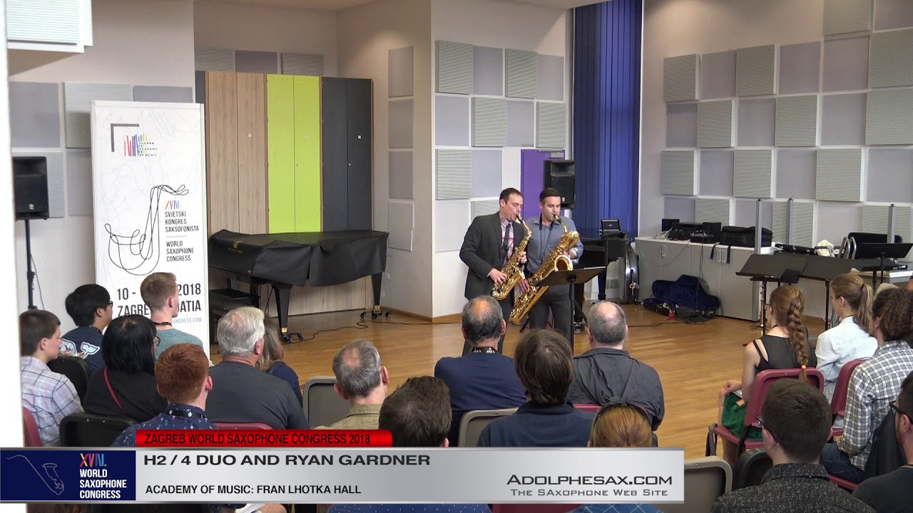 Snapshots by Takuma Itoh    H2:4 Duo & Ryan Gardner   XVIII World Sax Congress 2018 #adolphesax