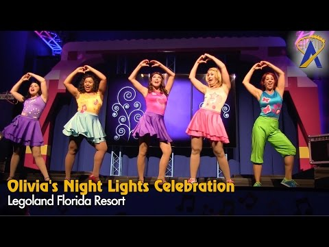 Special Lego Friends Show during Night Lights at Legoland Florida Resort