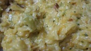 Cheesy Broccoli And Rice Casserole - Video Recipe