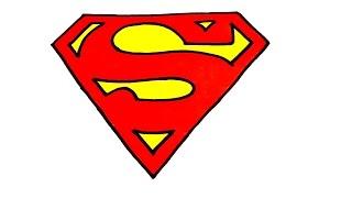 superman draw step easy logos cool superhero drawings superheroes stuff clipart drawing paper
