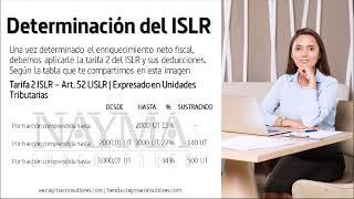 Tarifa del ISLR ForoChat Cierre Fiscal 2019 9/13
