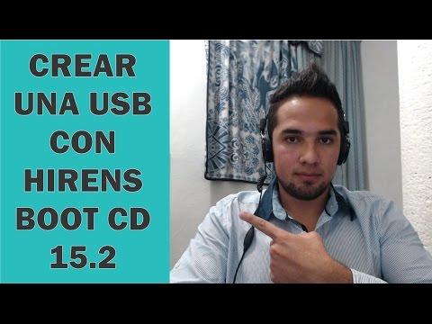 CREAR USB BOOTEABLLE PARA USAR EL PROGRAMA HIRENS BOOTC CD 15.2