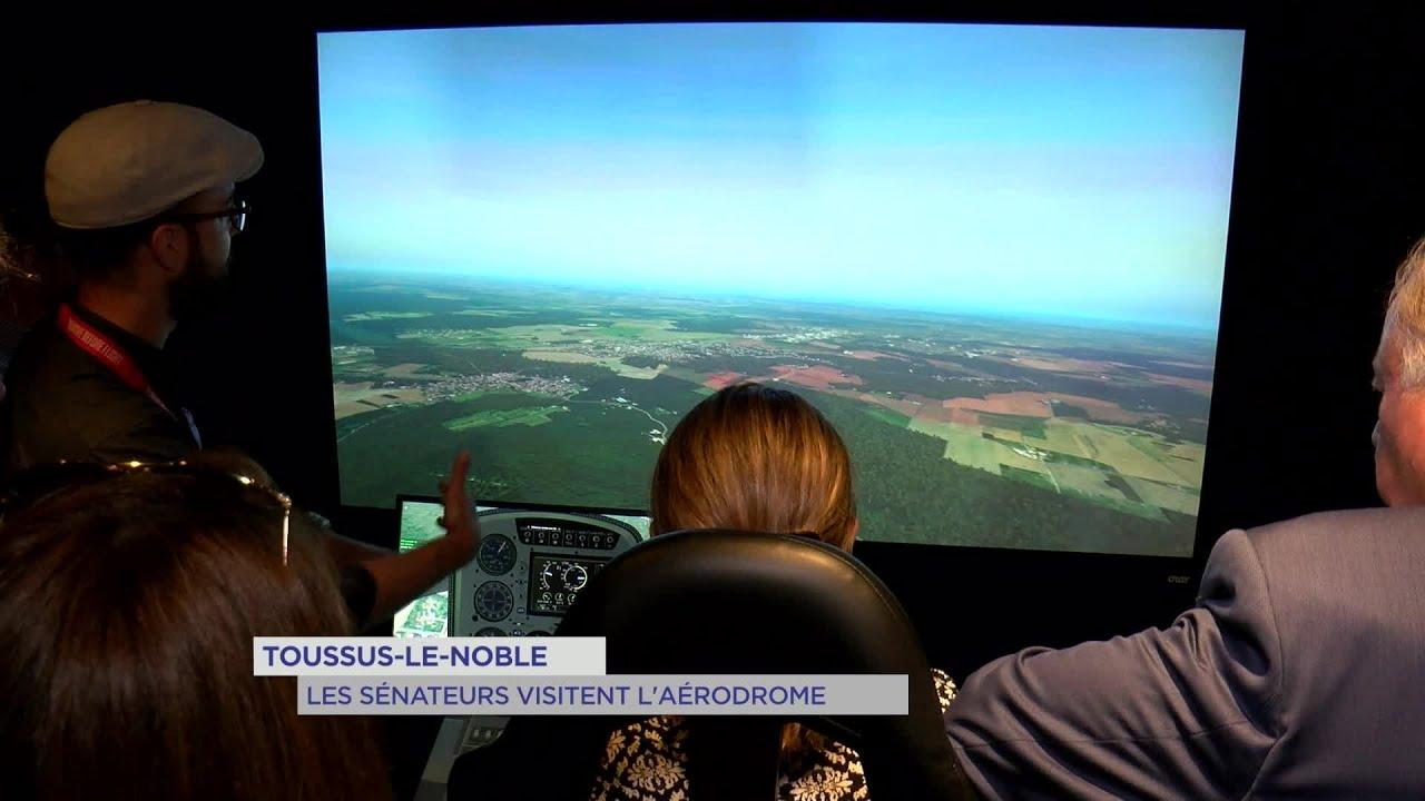 Yvelines | Toussus-le-Noble : Les sénateurs visitent l'aérodrome