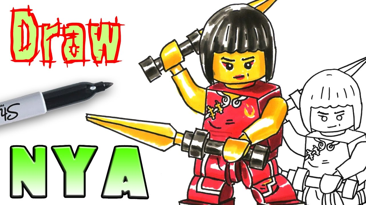 How To Draw Ninjago Nya  Lego  Coloring Pages