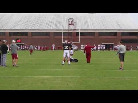 Alabama spring practice, day 5: Mac Jones works with Brian Daboll