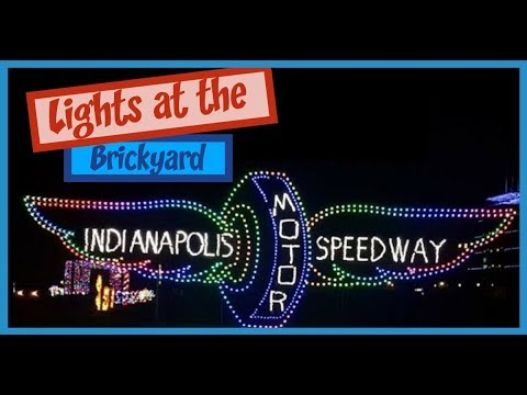 lights at the brickyard indy with kids at the indianapolis motor speedway