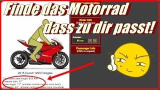 Motorcycle Ergonomics | Finde das Motorrad, dass zu dir passt! | Webon_one | Körpergröße