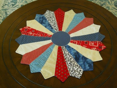 Red, White And Blue Dresden Plate Table Topper