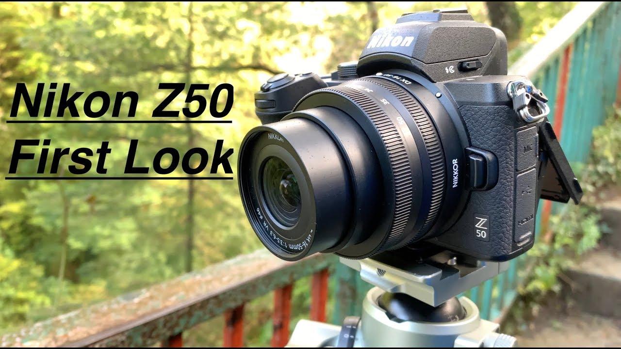 Nikon Z50 First look. + Size comparisons. Z DX 16-50mm + Z DX 50-250mm - YouTube