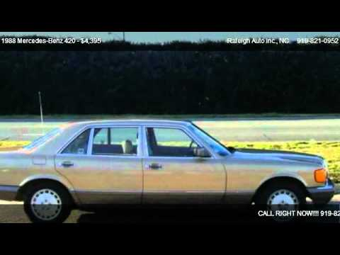 1988 Mercedes Benz 420 420sel For Sale In Raleigh Nc