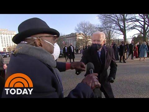 Joe Biden Speaks With Al Roker Along Parade Route: 'It Feels Great!' | TODAY