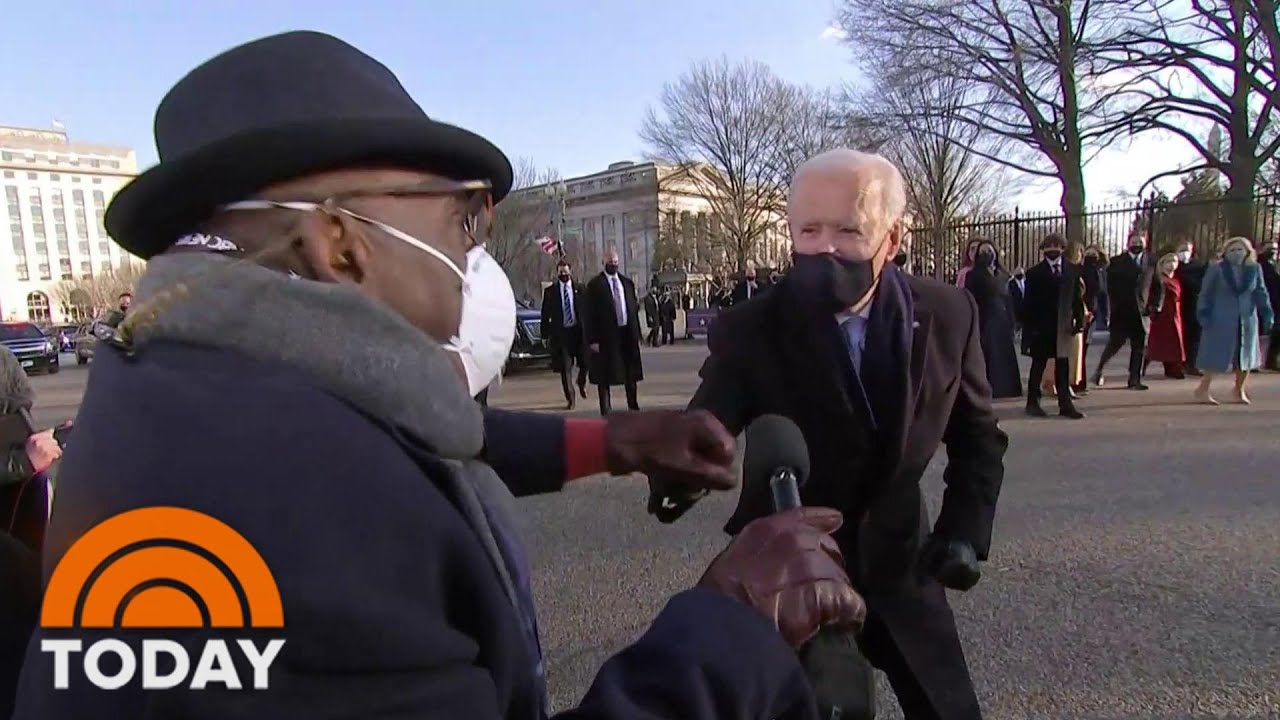 Joe Biden Speaks With Al Roker Along Parade Route: 'It Feels Great!' | TODAY