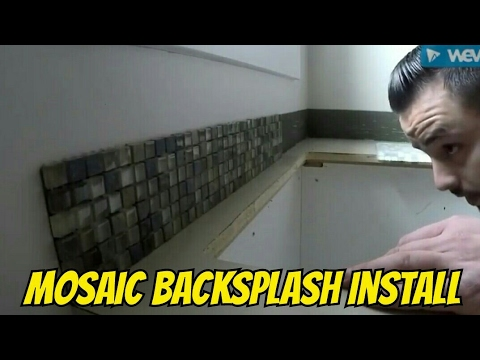 how to install mosaic glass tile backsplash in less than 15 minutes