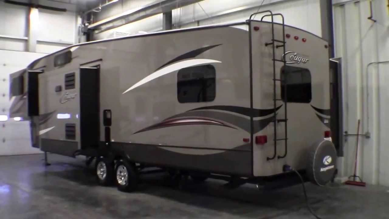 2014 Keystone Cougar 337 FLS Front Living Room Fifth Wheel With High Country